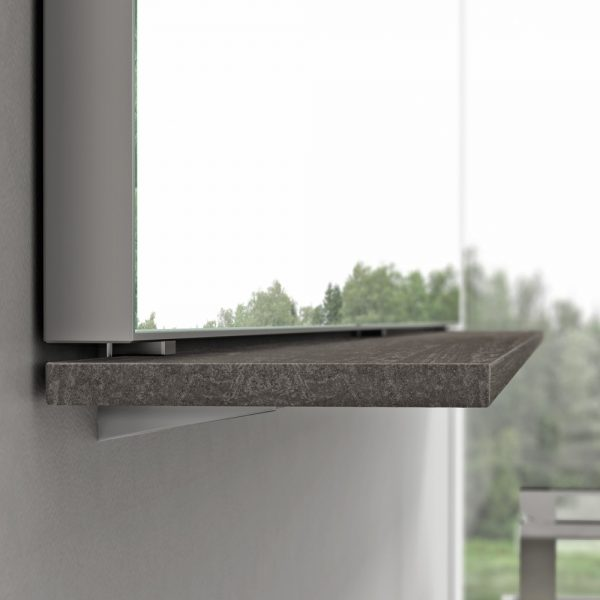 Система крепления полок/зеркала без отверстий в стене
