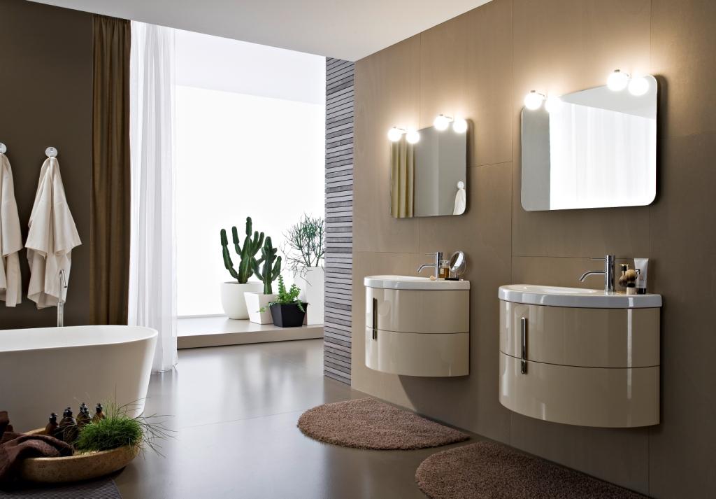 Презентация модульной мебели для ванной комнаты Moon