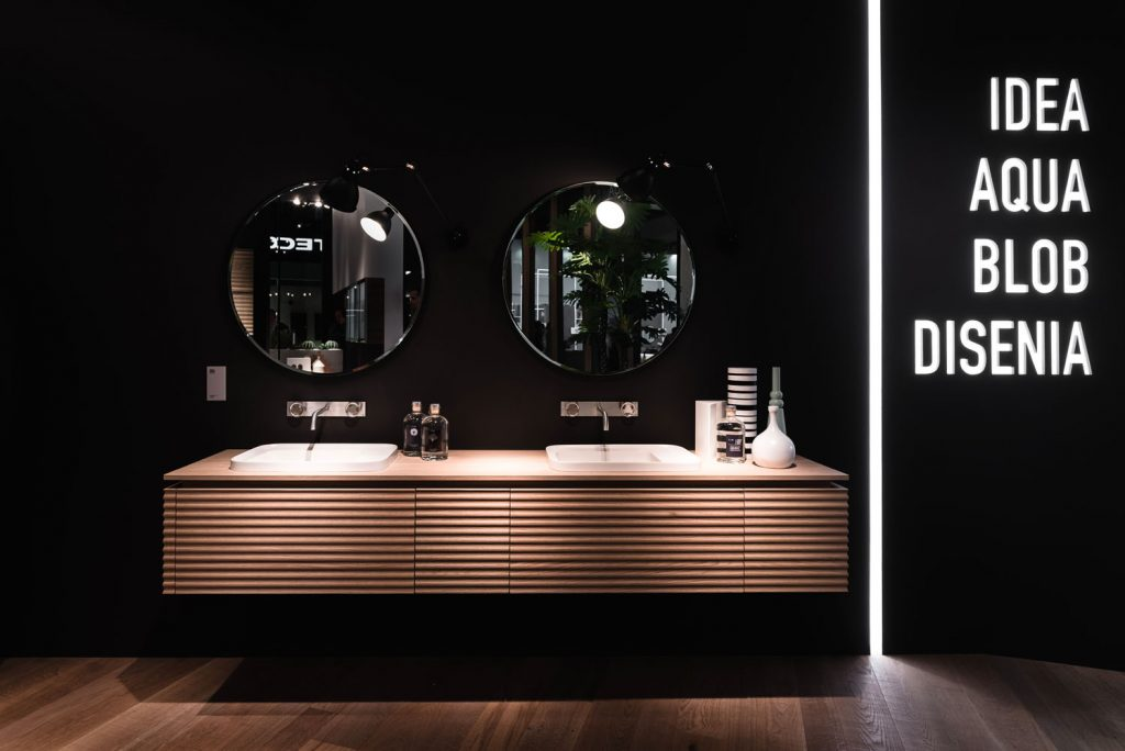 At ISH, interior design sets an original stage for bathroom environments