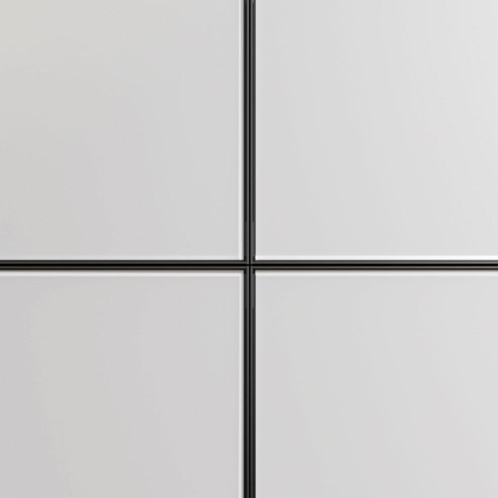 Передних панелей тумб из черного алюминия и травленого стекла с отделкой