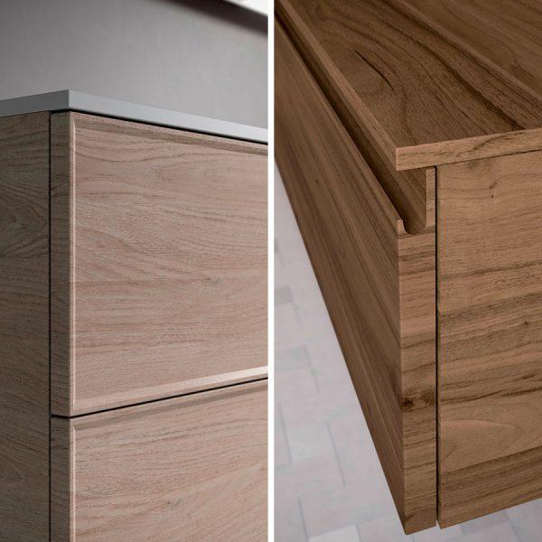 Две типологии дверей: рамные дверцы (Form T) или с пазами предназначенными для открывания (Form J)